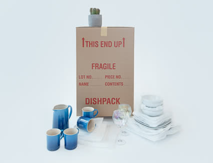 Dish fragile box can keep your glass and dishes safe