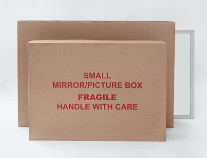 Small and large mirror boxes for packing your mirror
