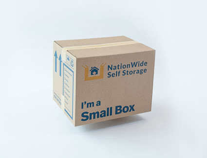 1.5 cube small box from NationWide Self Storage