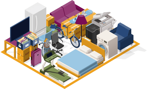 10x25 storage unit is large than a standard one-car garage