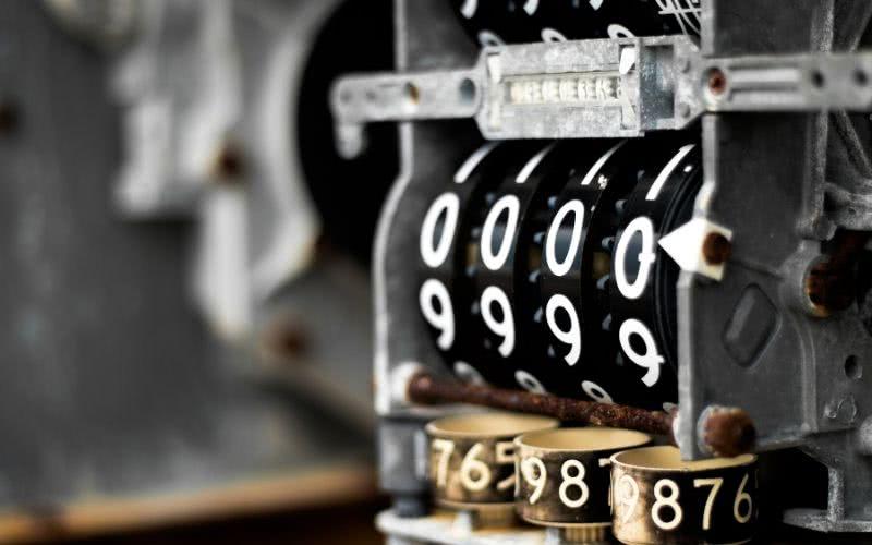 a padlock using a 4-digit code