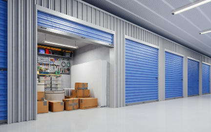 visual image of self-storage units